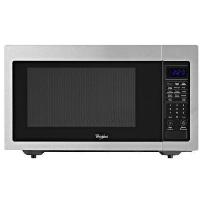 Whirlpool 1 6 Cu Ft Countertop Microwave In Stainless Steel