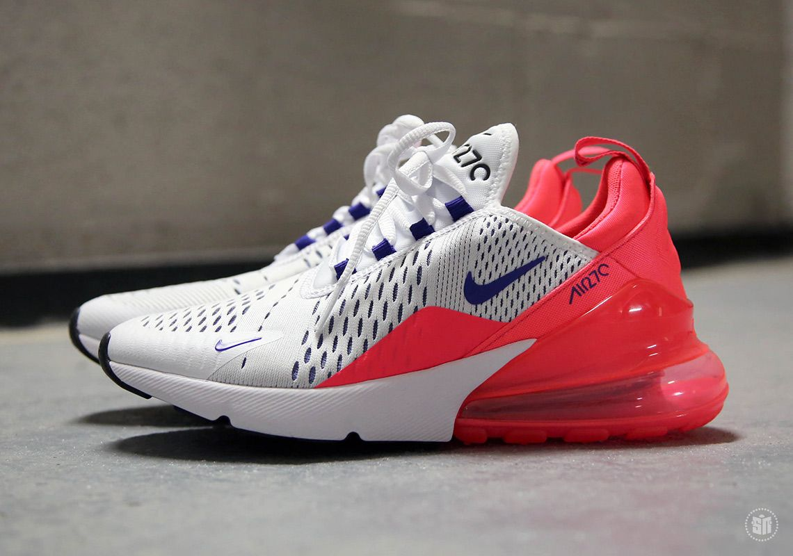 94b885d5 Nike Air Max 270 White Ultramarine Solar Red AH6789-101 | sneakers