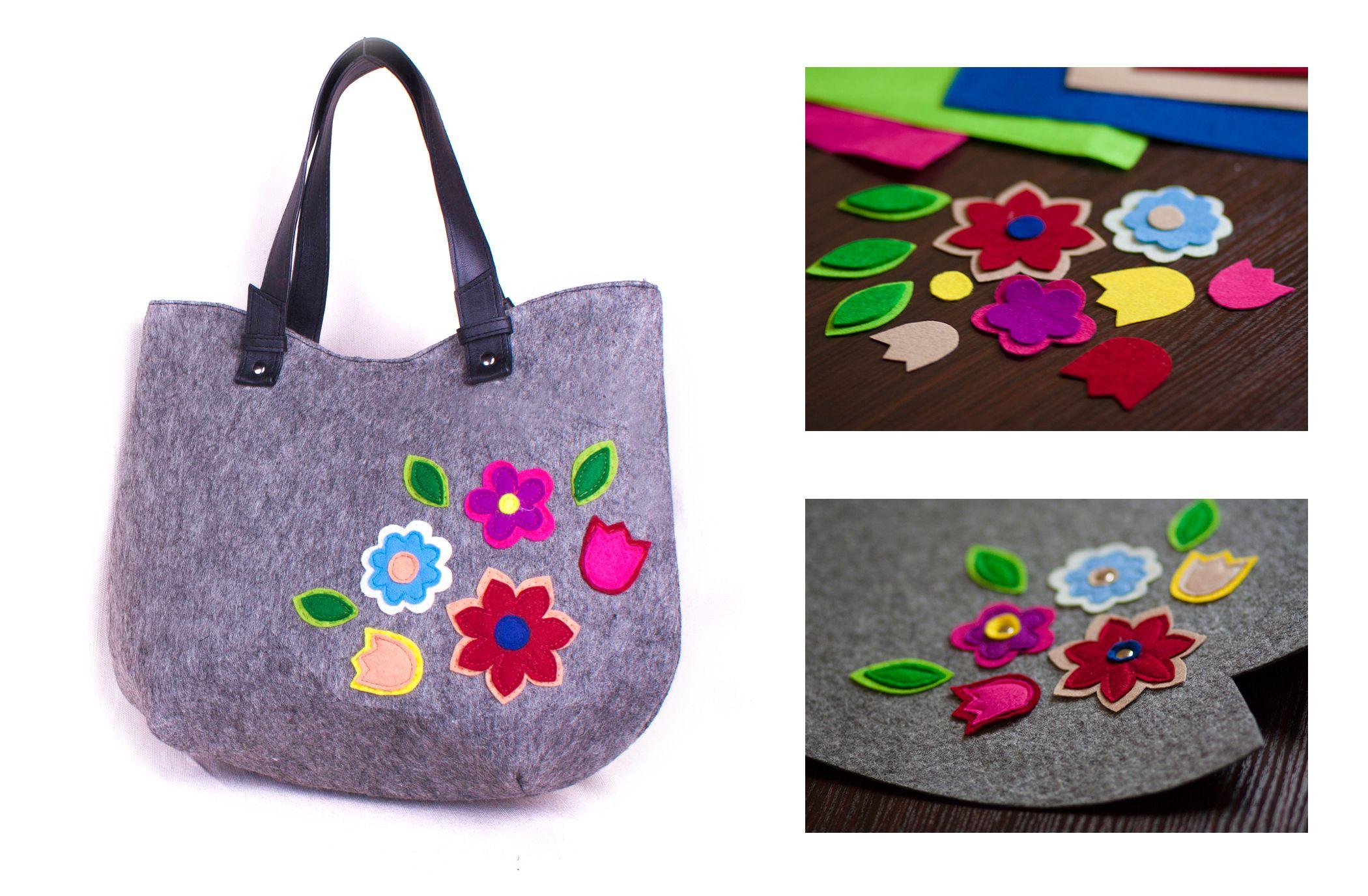 15af7065e61 Women's shoulder bags Vegan hobo bag Felted Hobo Bag Floral tote bag ...