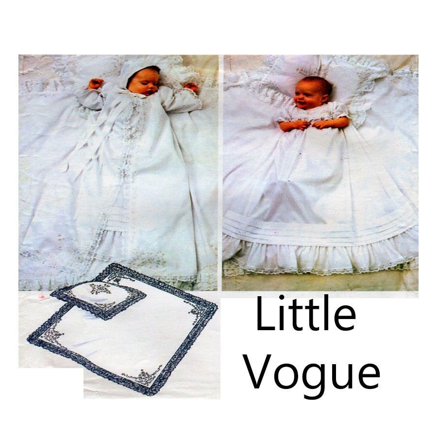 Baby christening gown baptism dress vogue sewing pattern