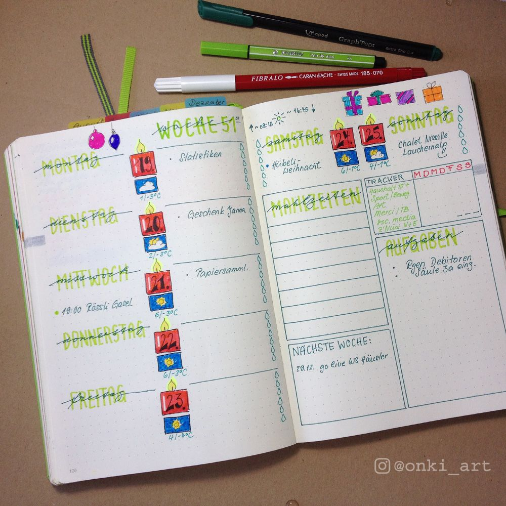 bullet journal wochen bersicht 51 ideen kalender. Black Bedroom Furniture Sets. Home Design Ideas