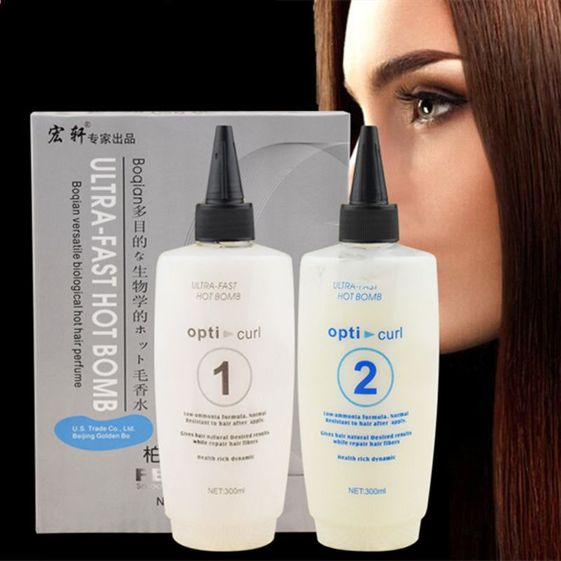 Rilassante per capelli Perm Agent Straightening Syrup Straight Hair Cream Ammorbidente Free Clip ...