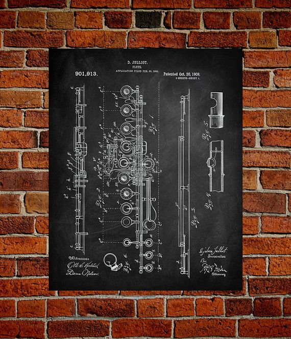 Really cool blueprint art of different instruments from this etsy really cool blueprint art of different instruments from this etsy shopflute art malvernweather Image collections