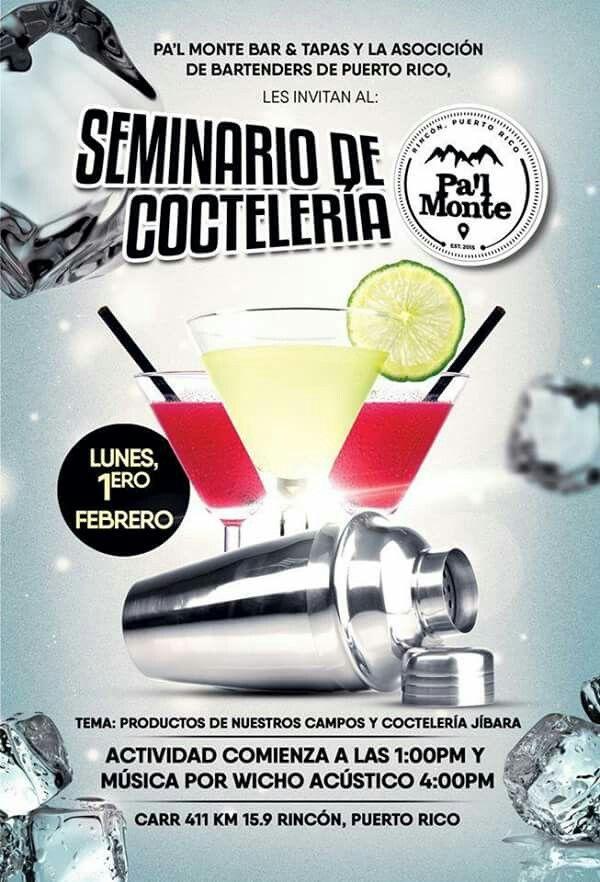 Seminario Coctelería Jíbara @ Pa'l Monte #sondeaquipr #cocteleriajibara #palmonte #rincon #prba #bartenderspr