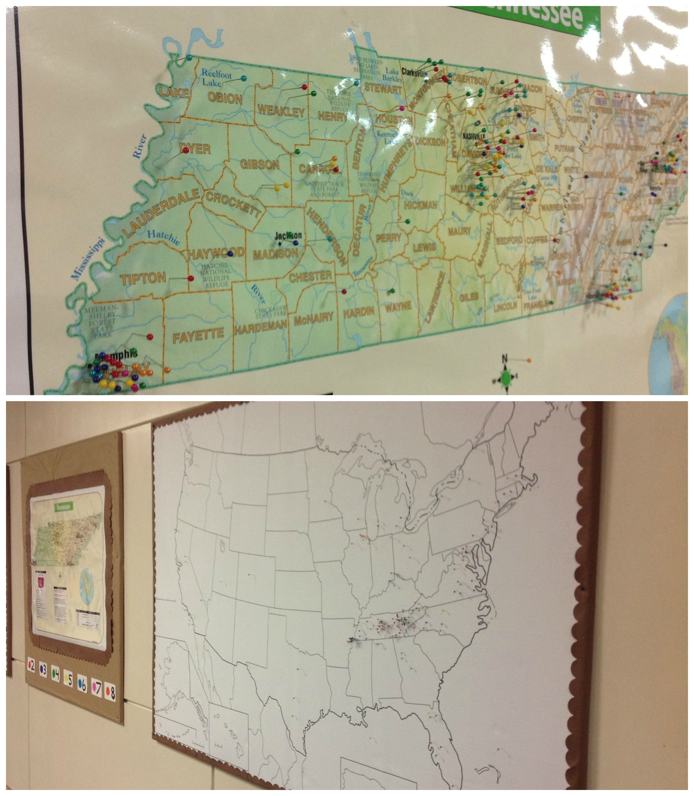 where are you from have residents place pins in maps of your home