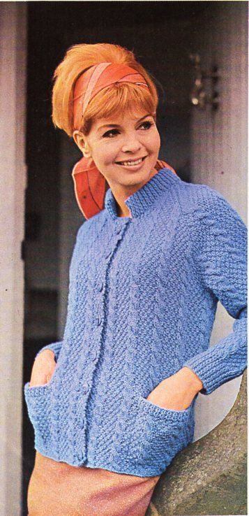 Ladies Aran Jacket Knitting Pattern Pdf Womens High Neck Aran
