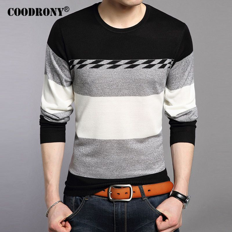 COODRONY Man Brand Clothing Pure Cotton Sweater Men Slim Fit ...