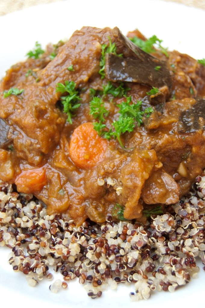 Wholesome Roasted #Eggplant Stew. This recipe truly comes from the heart and is one of my mother's secret recipe #glutenfree #comfortfood #heathyeating