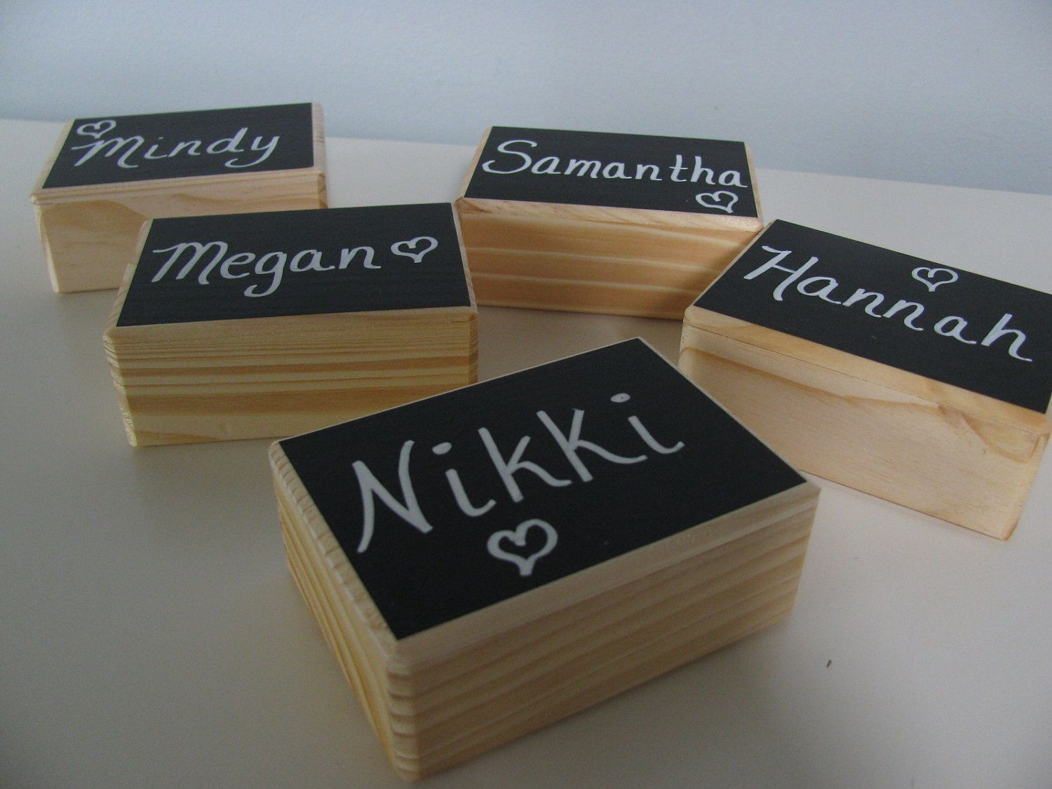 Personalized bridesmaidus gift jewelry keepsake gift box chalkboard