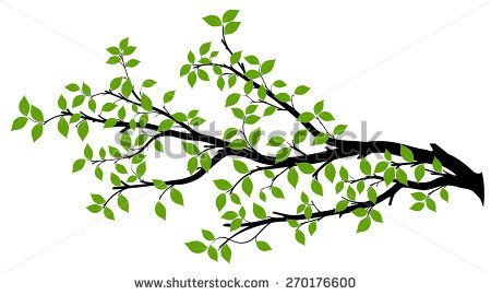 Long clipart tree branch #1383   Vector trees, Leaf ...