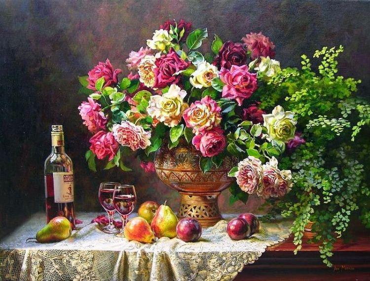 картина художника Ann Morton – 17 | Цветочные картины ...