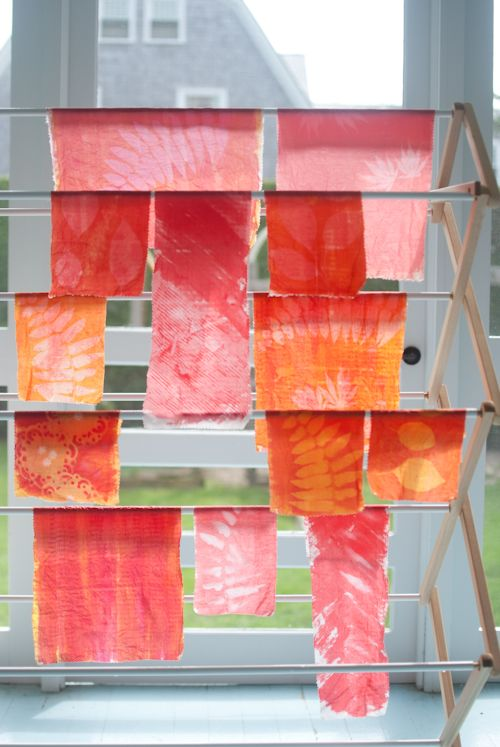 sun printing by Amy Gropp Forbes of Eclectic Mom - via the purl bee