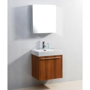 Virtu USA Midori 23-3/16 in. Single Basin Bathroom Vanity in Plum with Poly-Marble Vanity Top in White-JS-50124-PL-PRTSET1 at The Home Depot