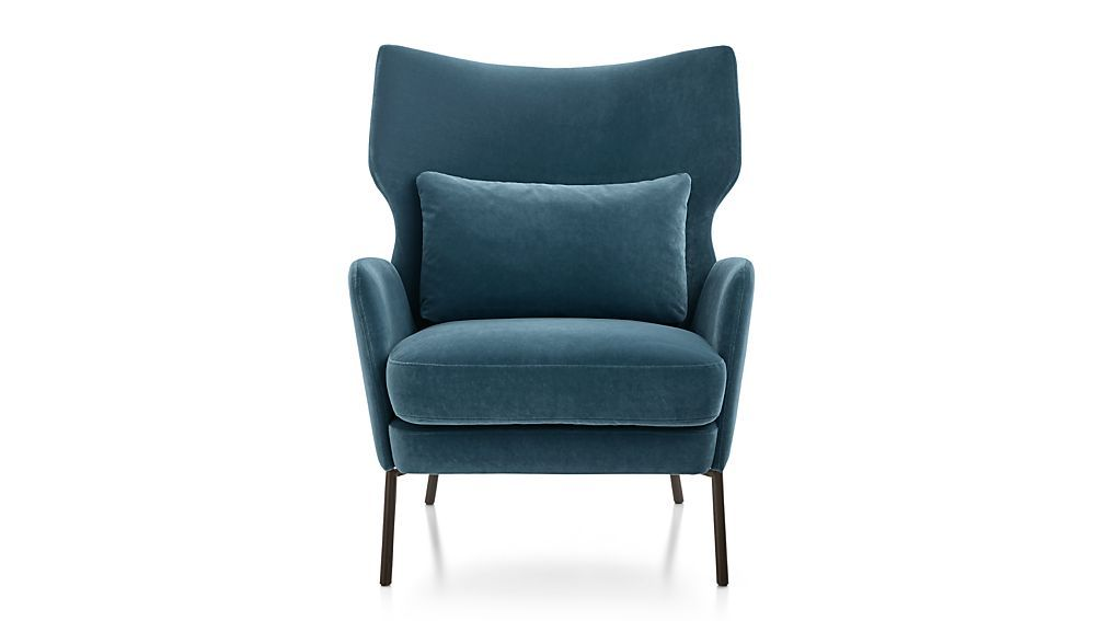 grey velvet office chair with arms