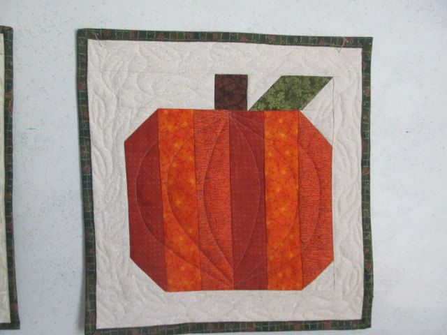 Quilted Pumpkin Wall Hanging by QuiltCraftByAmie on Etsy