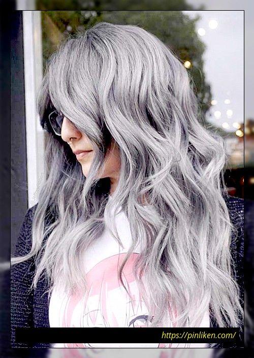 Glühend in 2020 | Silbergraue haare, Perfekte haarfarbe