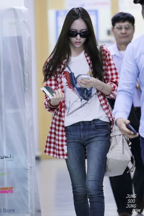 f(x) - Krystal | Korean Stars / Airport Fashion / Casual ...