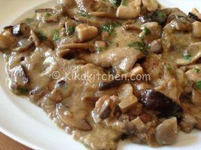 Photo of Escalopes with mushrooms (champignons, porcini mushrooms or mixed mushrooms) …