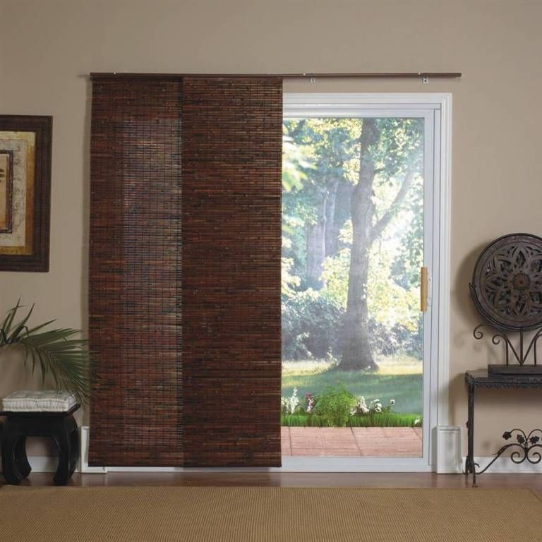 Home Interiors Elegant Bamboo Roman Shades With Curtains Also