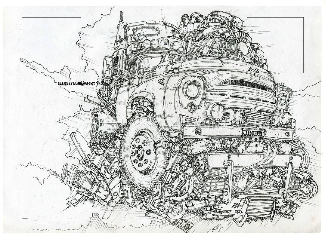 раскраски сложные машины