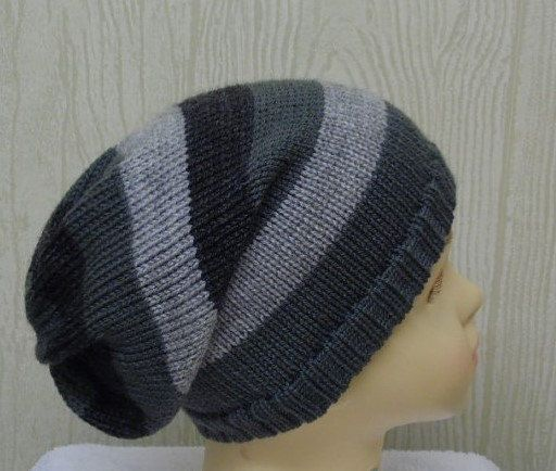 knitted toddler hats striped slouch hat by kristineshopforyou ... e0ff753a4eae