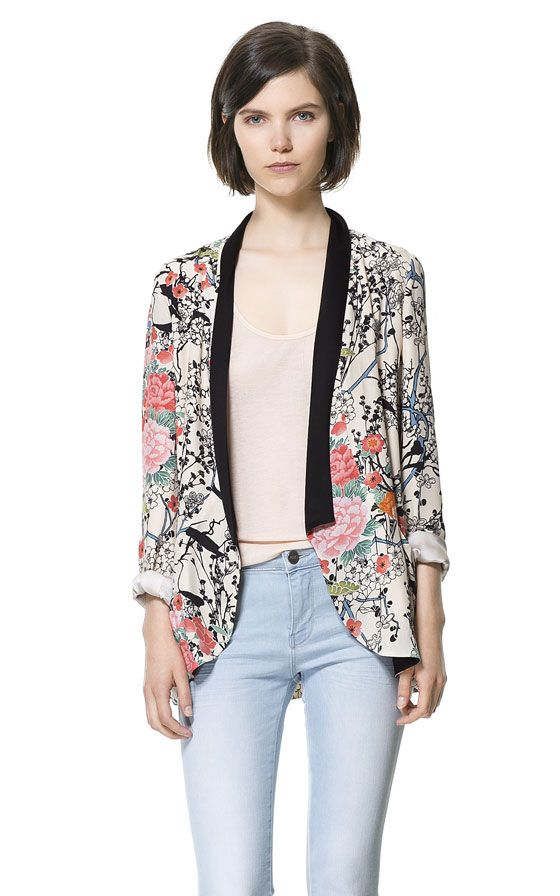 Image 2 of CONTRASTING PRINTED BLAZER from Zara  99.90 Chaquetas 13ac5d030ad55