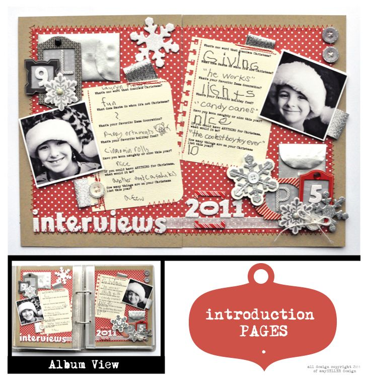@Amy Heller's awesome December Daily album using American Crafts goodies!