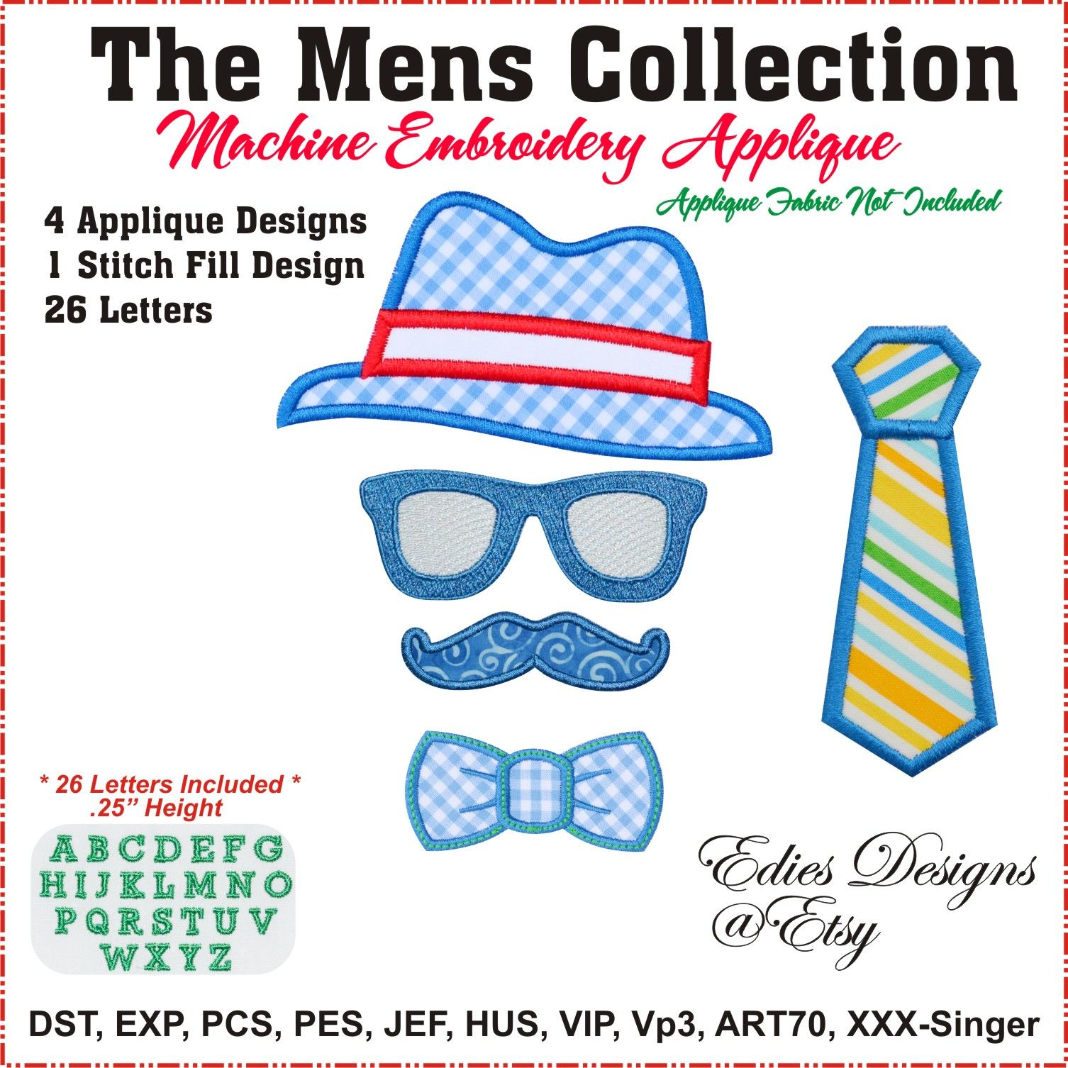 The Mens Collection with 26 letters to create his special monogram