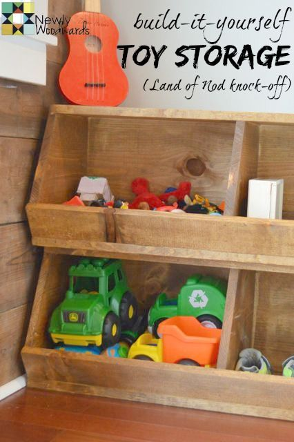 Toy storage and a drop zone in the barn - NewlyWoodwards