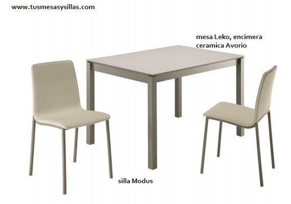 Mesa cocina extensible Leko pata deslizante extensible 60 ...