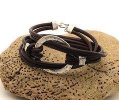 FREE SHIPPING  Women's leather bracelet Brown by eliziatelye, $28.00