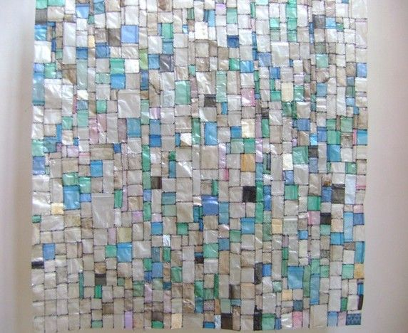 Make A Piece Of Mosaic Wall Art By Sching Plastic Bags Together