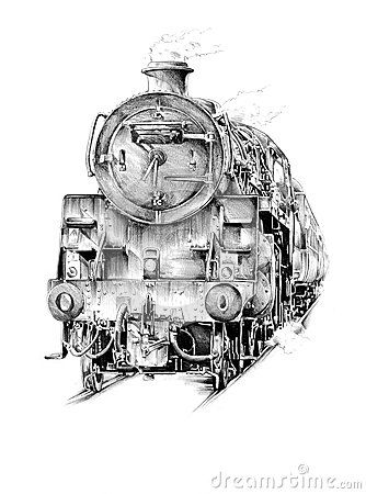 Old Steam Trains Pencil Drawings Yahoo Image Search Results Old