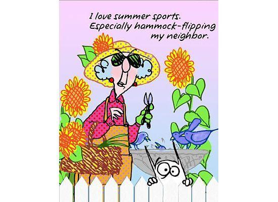 Summer Sports Cartoon: Summer Sports - Maxine