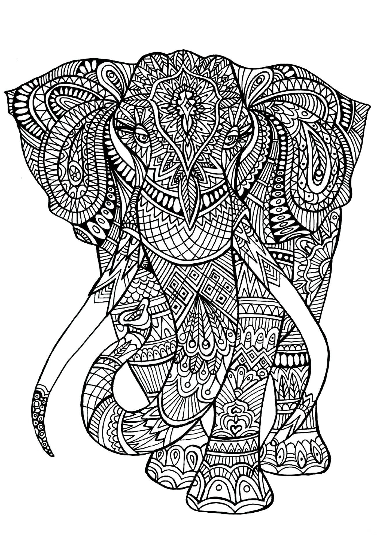 Mandala Boyama Hayvanlar Mandala