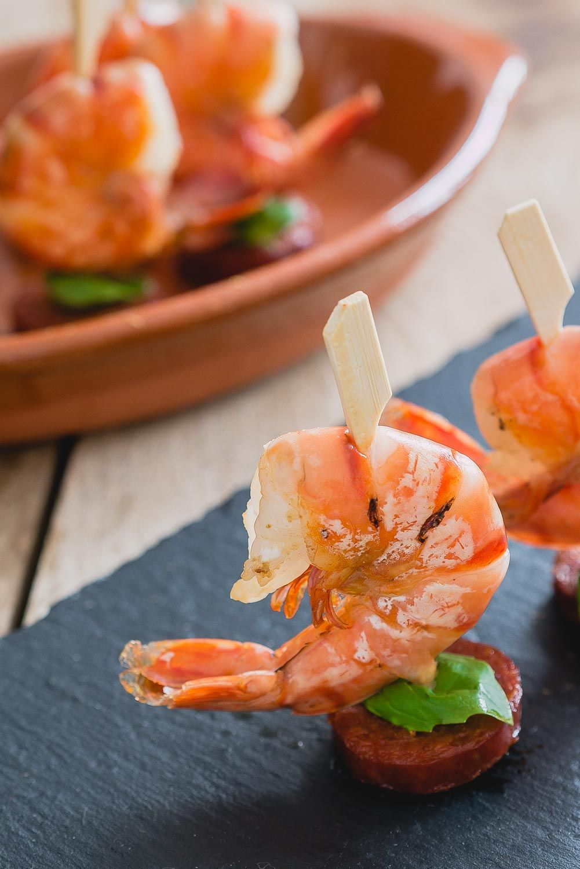 Garnaal chorizo stokjes | Hapjes tijd - The answer is food