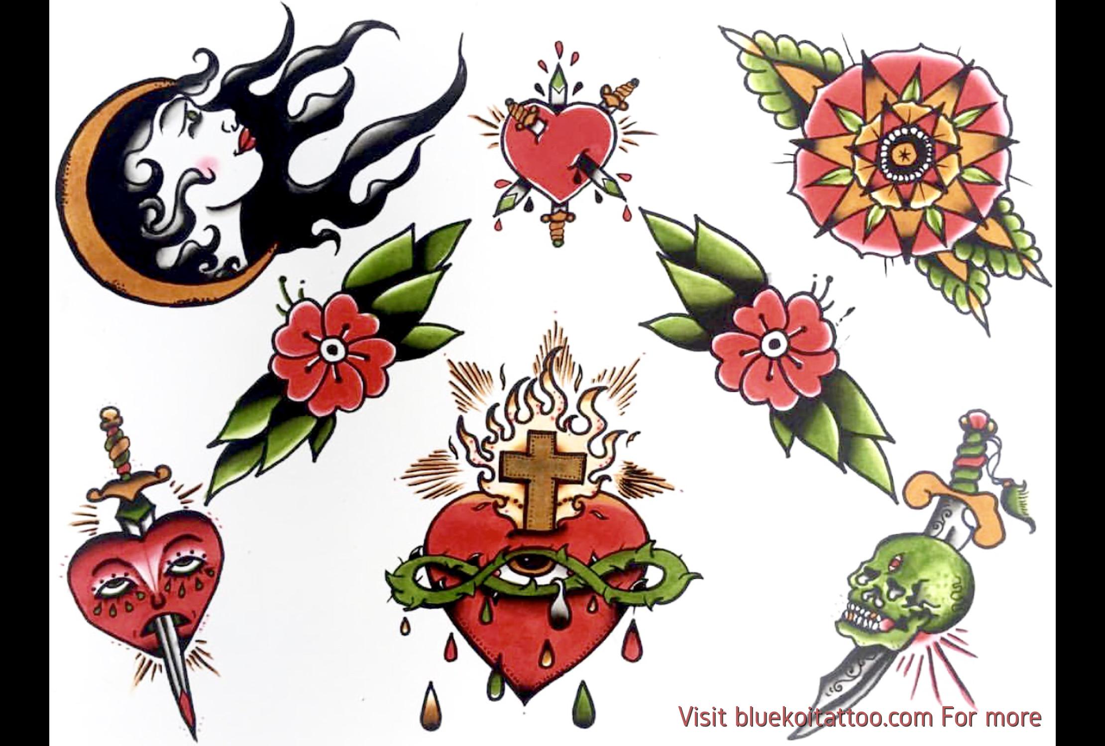 Traditional Tattoo Flashsheet American Old School Style Traditional Tattoo Eye Tattoo Create A Tattoo