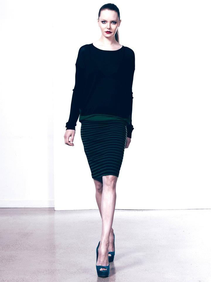 Zef Contrast Knit and Linnea Ponti Skirt www.polclothing.com.au