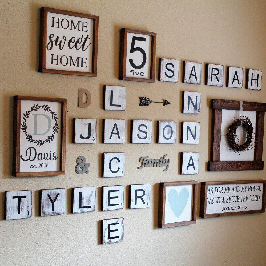 Scrabble Buchstaben Wand