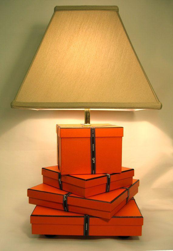 Hermes Chic Hermes Lamp Orange Hermes Gift Boxes By Firstandfig 375 00 Hermes Home Orange Decor Hermes Box