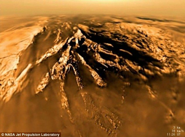 The new footage has been released by Nasa to mark the nearing end of the Cassini mission, as the spacecraft is due to descend in a self-destruct mission into fiery Saturn in September this year. The images reveal Titan's dunes are gigantic, reaching, on average, 0.6 to 1.2 miles (1 to 2 kilometers) wide, hundreds of miles (kilometers) long and around 300 feet (100 meters) high.