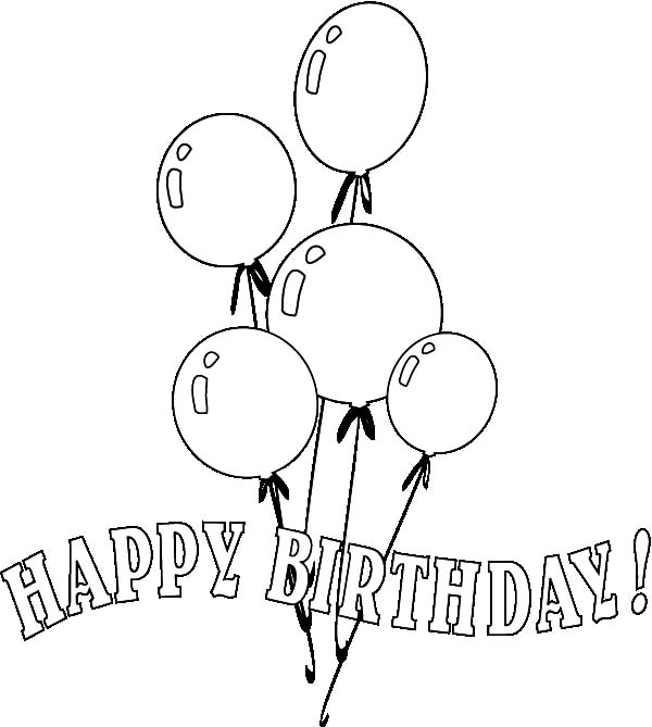 - Partying With Balloons Coloring Pages : Best Place To Color Coloring Pages,  Happy Birthday Balloons, Coloring Book Pages