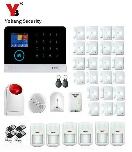 Yobang Security 2 4 Inch Screen Wifi Gsm Sms Alarm House Intelligent Auto Burglar Gl