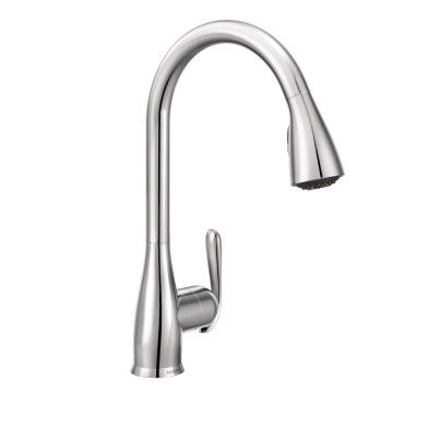 Haysfield Chrome one-handle high arc kitchen faucet | Dream ...