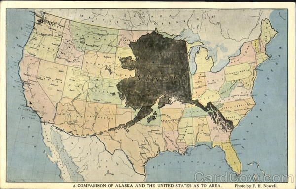 A Comparison Of Alaska And The United States As To Area ... on texas and alaska map, alaska and klondike gold region map, anchorage alaska on world map, alaska road map, alaska state map, alaska map with cities,
