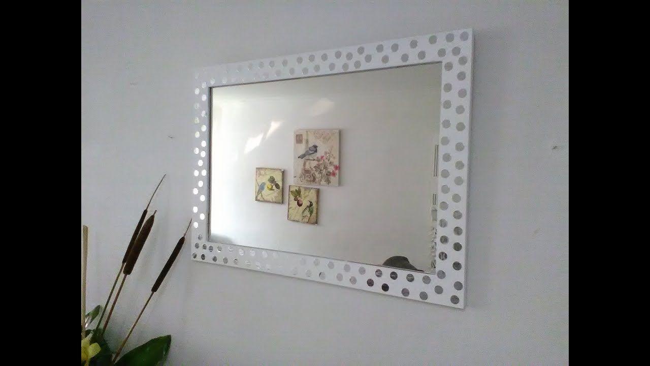 Diy Como Transformar Un Espejo De Simple A Espectacular Ideas De Decor Espejos Espejos Reciclados Decoracion Espejos Pared