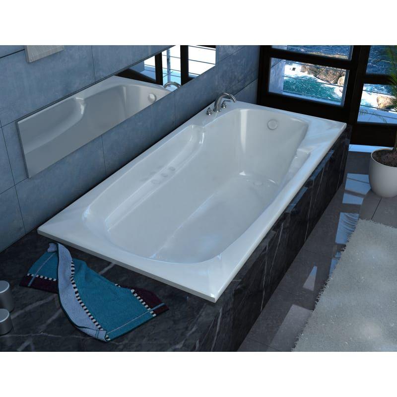 "Avano AV3660EAL White Aruba 58-1/2"" Acrylic Air Bathtub for Drop-In Installations with Left Drain"