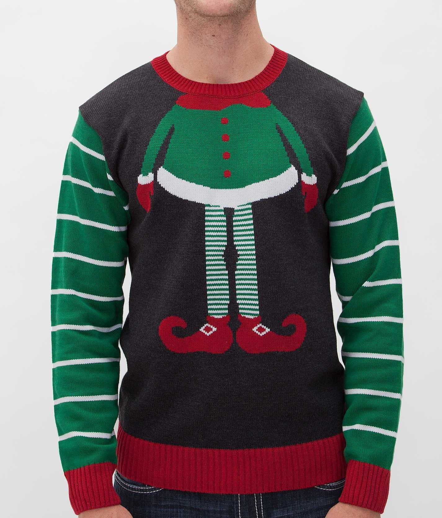 Ugly Christmas Sweater Elf Sweater - Men's Sweaters | Buckle ...