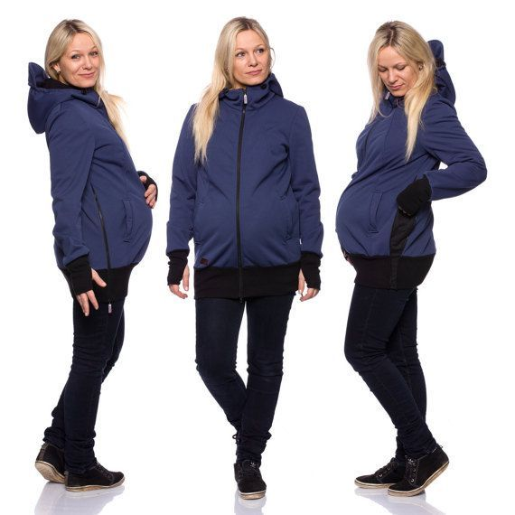 0583e8e6b5718 Viva la Mama | Baby Carrying Softshell Jacket AVENTURO (3in1- black,  water-repellent, windproof). Outdoor jacket for pregnancy, maternity, baby  wearing and ...