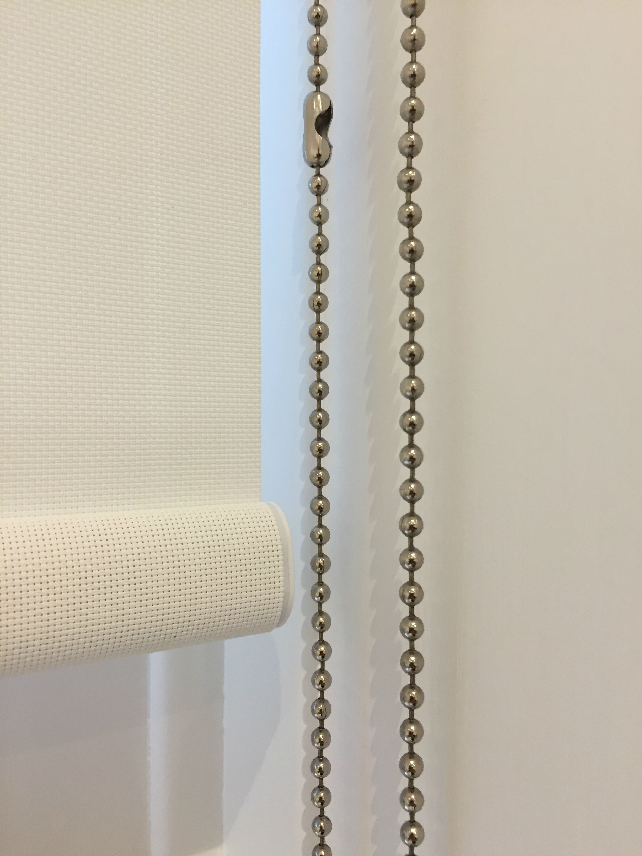 Sunscreen Roller Blind Detail With Chain Control And Chain